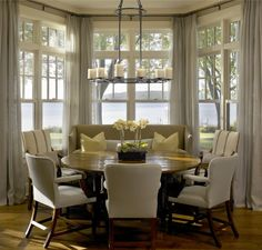 Breakfast Nook Curtains On Pinterest Bay Window Blinds Picture Win