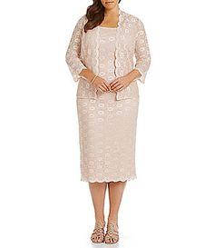 Alex Evenings Plus Jacket Dress #Dillards