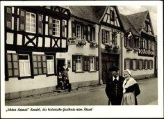 Ansichtskarte / Postkarte Kandel Kreis Germersheim, Gasthaus Schöne Heimat, A. Weil, Trachten #Suedpfalz