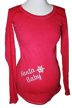Santa Baby Maternity T Shirt Christmas by BellaBambinoLLC on Etsy, $32.00