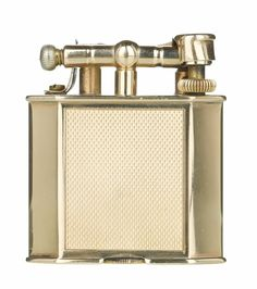 1933 Dunhill Solid 9ct Gold Unique Lighter, Rare hexagon shape, 100% working
