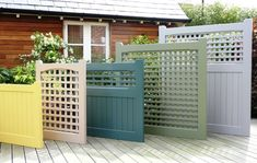 garden fence Bespoke, Contemporary Wooden Garden Gates - Essex UK, The Garden Trellis Company Wooden Garden Gate, Diy Garden Fence, Backyard Fences, Backyard Landscaping, Backyard Privacy, Garden Bed, Garden Ideas, Trellis Fence, Lattice Fence