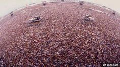 Picture of the crowd at Metallica's 1991 concert in Moscow. It is estimated somewhere around 1.5 million were in attendance.