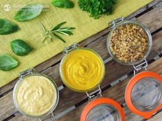 Home-made Paleo Mustard, Three Ways: Classic yellow, Dijon, Wholegrain mustard and more options for flavouring!