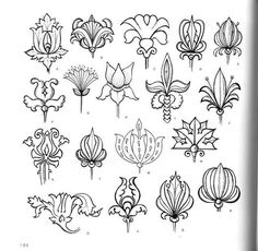 Светлана Соколова Folk Art Flowers, Flower Art, Art Nouveau, Floral Doodle, Flower Henna, Wall Drawing, Flower Doodles, Zen Art, Art Moderne