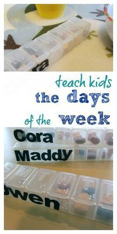 Teach kids the days of the week with this simple and fun idea for teaching kids! It's a great teaching tip for teachers as well as parents and will get those little ones learning their days of the week in no time! Learning Time, Kids Learning Activities, Early Learning, Days Of The Week Activities, Homeschooling Resources, Toddler Preschool, Preschool Ideas, Tot School, New Things To Learn