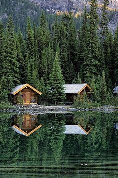 Cabins in Yoho National Park, Lake OHara, British Columbia,