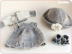 conjunto gris (_vasilka_) Etiquetas: muñeco vestido de ganchillo hecho a mano ropa de punto jaime latiyellow pukifee