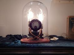 Found this cool company, The Steampunk Lamp Factory.  They build the coolest steampunk lights and accessories and have their own Showroom!  This is a cool piece, very impressive in person!  Cool lamp, cool peeps!