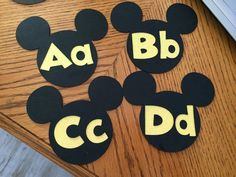 Mickey Word Wall Letters Disney Classroom by 2ndGradeMousekeeter, $19.99