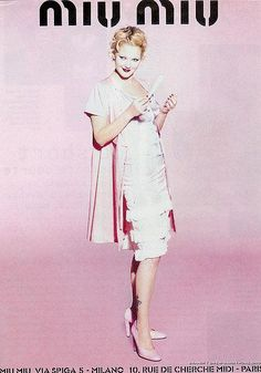 d38539b5d39 spring 1995 campaign from Miu Miu. Drew Barrymore photographed by Ellen von  Unwerth