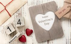 Download wallpapers Valentines Day, February 14, red wooden hearts, diary, romance, love concepts