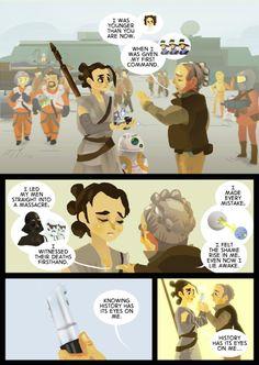 Hamilton Star Wars #Force4Ham mashup Rey Leia comic history has its eyes on me