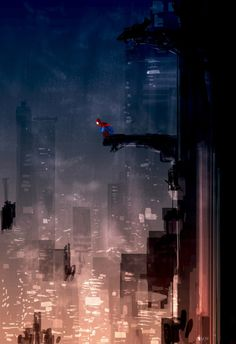 Drawing Marvel Comics StuffNThings — Spidey swinging through the city by Pascal Campion - Marvel Comics, Bd Comics, Marvel Art, Marvel Memes, Amazing Spiderman, All Spiderman, Comic Books Art, Comic Art, Spider Men