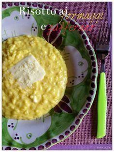 Vivi in cucina: Risotto ai formaggi e zafferano - Bimby