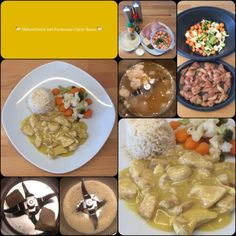 All in: *** Hühnerbrust mit Parmesan-Curry-Sauce *** … mit Reis und Gemüse … schnell gemacht und lecker!