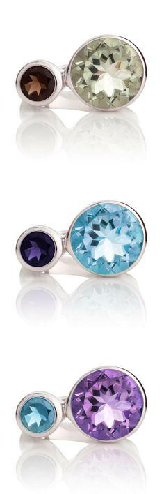 Discover British designer MANJA's sterling silver gemstone jewellery > Songofjewellery.com  Free worldwide shipping.
