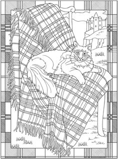Welcome to Dover Publications - Creative Haven Tartan Designs Coloring Book / artwork by Marty Noble