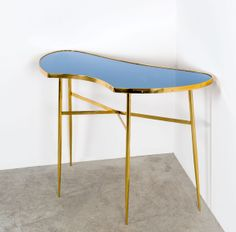 Anonymous; Brass and Glass Console by Fontana Arte, c1960.