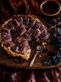 Pecan Chocolate and Bourbon Tart /Kara Rosenlund