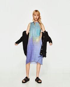 Image 1 of TIE-DYE DRESS from Zara