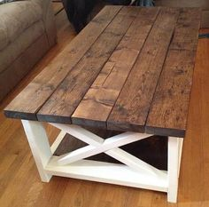 rustic coffee table | ana white | diy coffee table | farmhouse