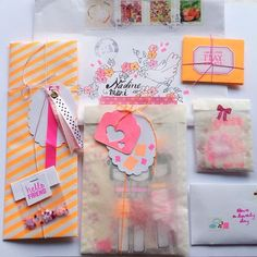 snail mail inspiration // pretty colors and design. Love it!