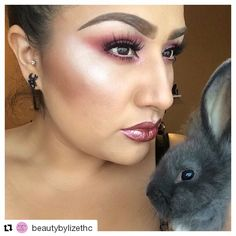@beautybylizethc is mesmerizing us and by the looks of it, bunny too!  She's wearing Madly Matte Metallic Lip Gloss in Rose Luster (1653).  #kleancolor #repost #madlymatte #metallic #metalliclipgloss #roseluster #lustrous #multidimensional #mesmerize #lotd #motd #mua #makeup #cosmetics #beauty #animallove