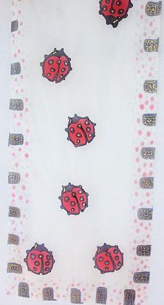 Red Silk scarves handpainted Silk Scarf red by lasoiedemissvalerie