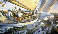 Painting by Christopher Blossom