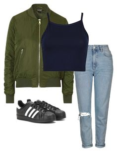 """Untitled #74"" by reanna2002 on Polyvore featuring Topshop and adidas"