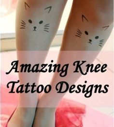 50 Amazing Knee Tattoo Design Ideas