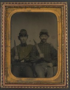 Brothers- Privates Thomas D. Hilliard And Colonel John Hilliard Of Co. C, 12th North Carolina Infantry Regiment, With Bowie Knives Although many major battles did not occur in North Carolina, the...