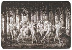Fertile women. Nature. Dance. Jpy. Mystic. By artist Jonny Andvik