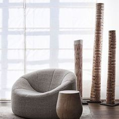 An idyllic indoor escape.⠀ ⠀ From its characteristic plump form and hugging, clean lines, Pumpkin by Pierre Paulin introduces a soothing,… Pierre Jeanneret, Pierre Paulin, Large Furniture, Furniture Styles, Contemporary Furniture, Furniture Design, Ligne Roset, Interior Styling, Interior Design