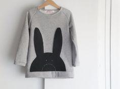 Girls' sweatshirt hello bunny hop hop. Eco friendly by bymamma190