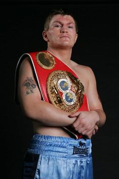 Ricky Hatton of Manchester, England. Former Lineal World Light-Welterweight and WBA Welterweight Champion.