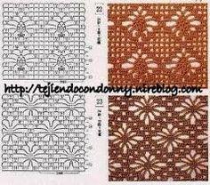 Resultado de imagen para puntos crochet patrones