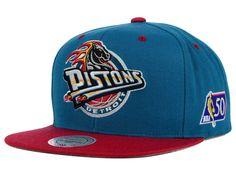 Detroit Pistons Mitchell and Ness NBA Snapback Cap Hats Detroit Vs Everybody, Sports Apparel, Detroit Pistons, Hip Hop Rap, Cool Hats, Snap Backs, Snapback Cap, Urban Fashion, Baseball Cap