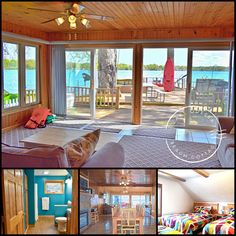 Lake Odessa Beach Cottage is a comfortable, modern rental with new amenities, and stunning outdoor deck area (with hot tub) and private boat docks right on the property. Book direct with the owner for the best rate:   #bookdirect #itscabintime #travelmi #lakehouse