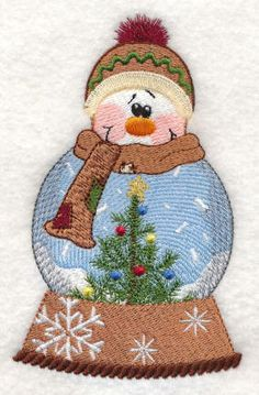 Threadsketches' set Winter Friends - Christmas embroidery designs, Big Black Friday Sale!, snowman snow globe