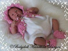 "Knitting pattern for Romper & Bolero Set 10-16"" dolls/preemie baby - $4.05"