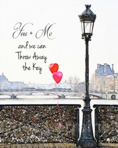 You and Me: A Watercolor Fine Art Print for the by ChezLorraines