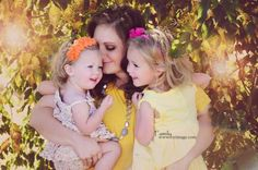 A woman who has everything. My daughter with her daughters.