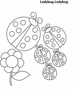 lady bugs love it pattern for felt