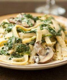 Mushroom Spinach Alfredo