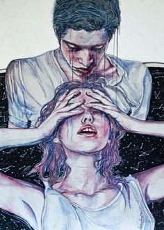 """""""Tienes miedo a que te haga daño y eres tú la que te haces dañi con tanto miedo..."""" ♥ """"You're afraid to hurt you and you who you're hurting so afraid .."""""""