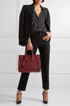 Burgundy textured-leather (Calf) Open top Designer color: Palissandre Weighs approximately 2.6lbs/ 1.2kg Made in Italy