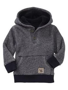 Marled French terry knit hoodie
