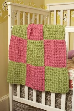 9-Patch Baby Crochet Throw